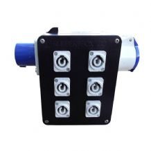 16Amp Power Distribution Box - 6 x Powercon Outlets